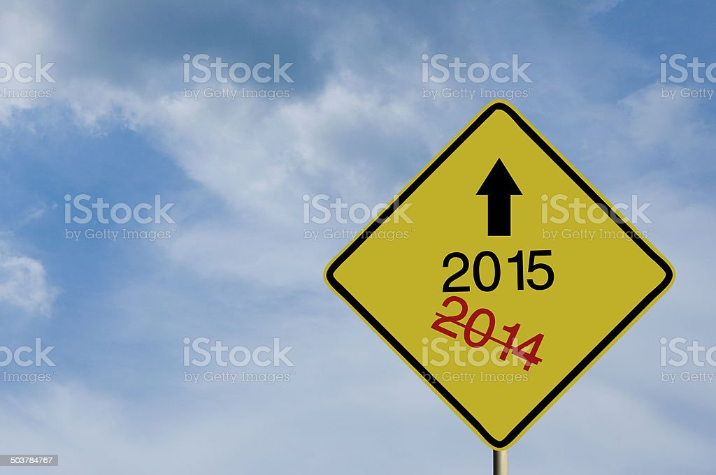 Year 2015 Sign stock photo
