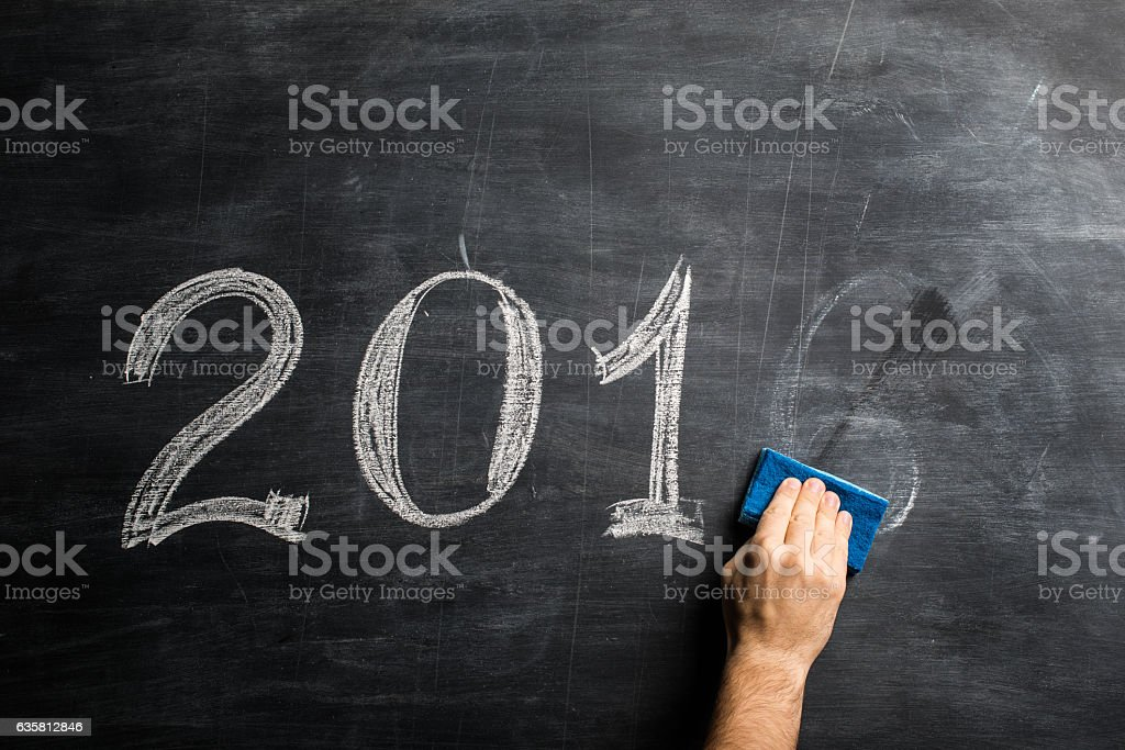 year 2016 is gone stock photo