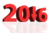 Year 2016 New Year concept