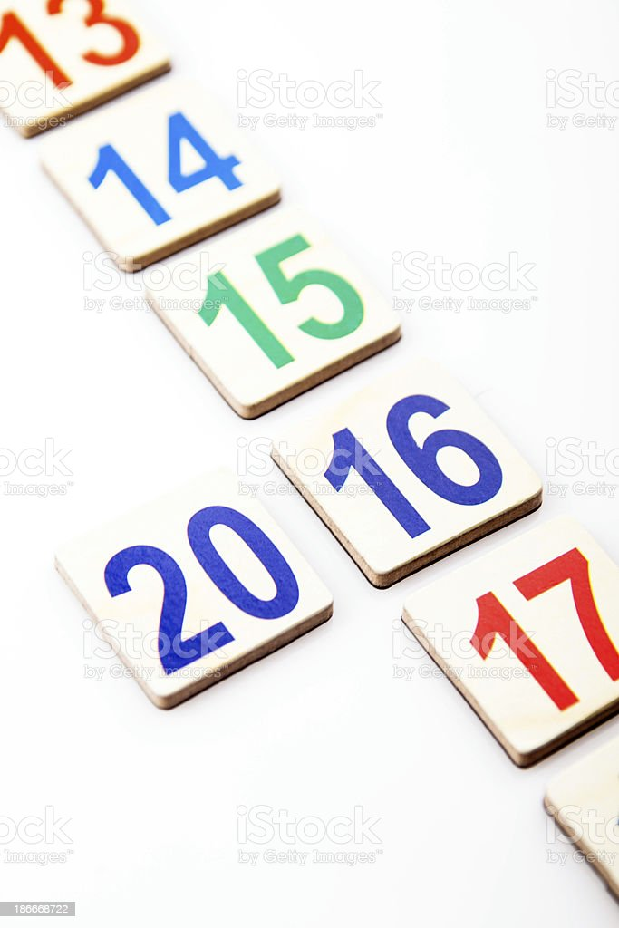 year 2016 royalty-free stock photo