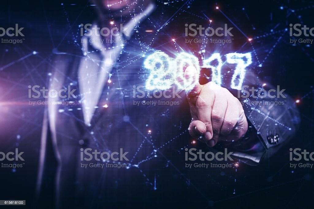 Year 2017 is coming stock photo