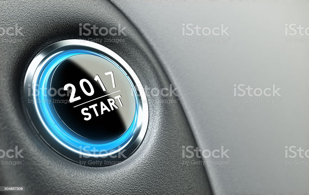 Year 2017 stock photo