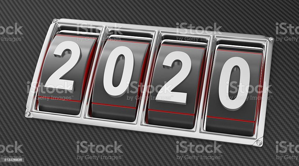 Year 2020 stock photo