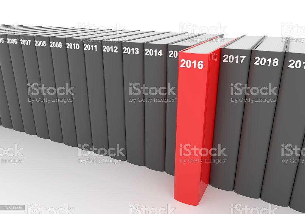 Year books - 2016 stock photo