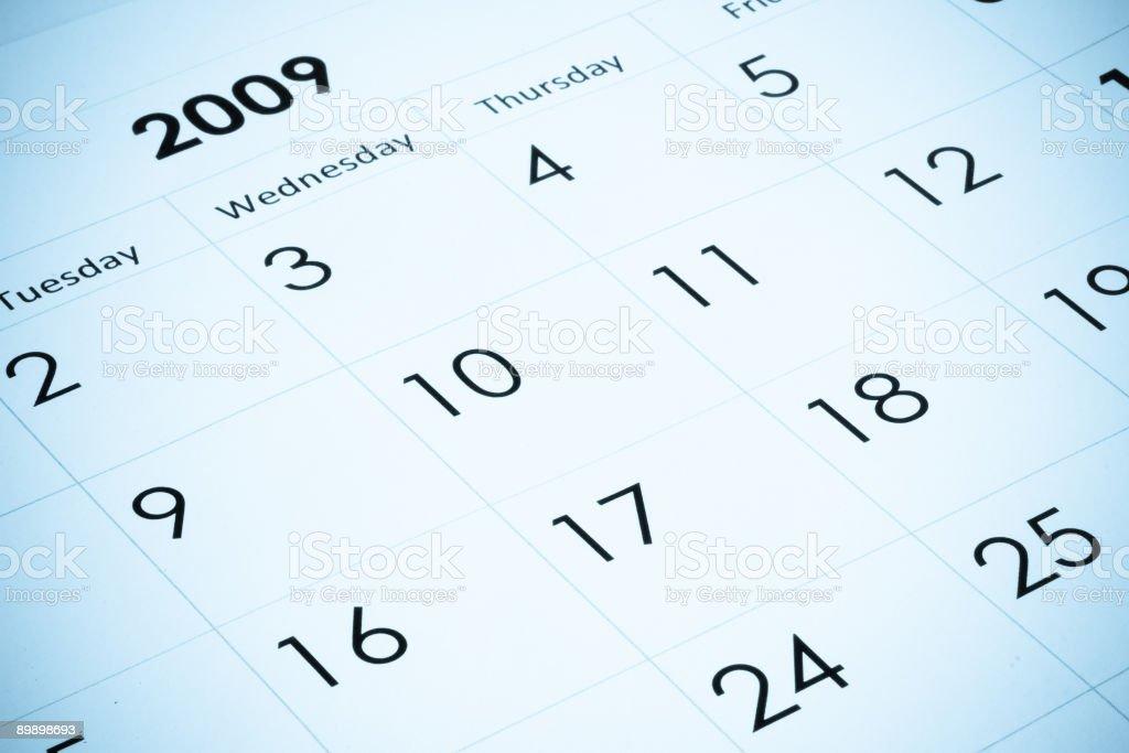 2009 year calendar stock photo