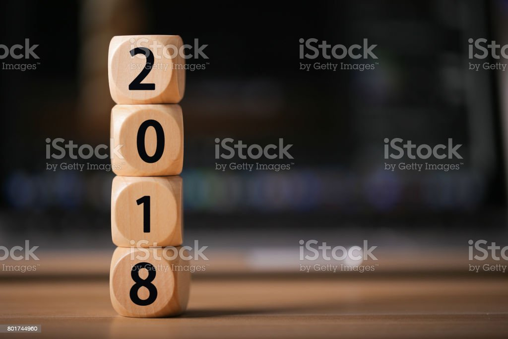 2018 Year Concept stock photo