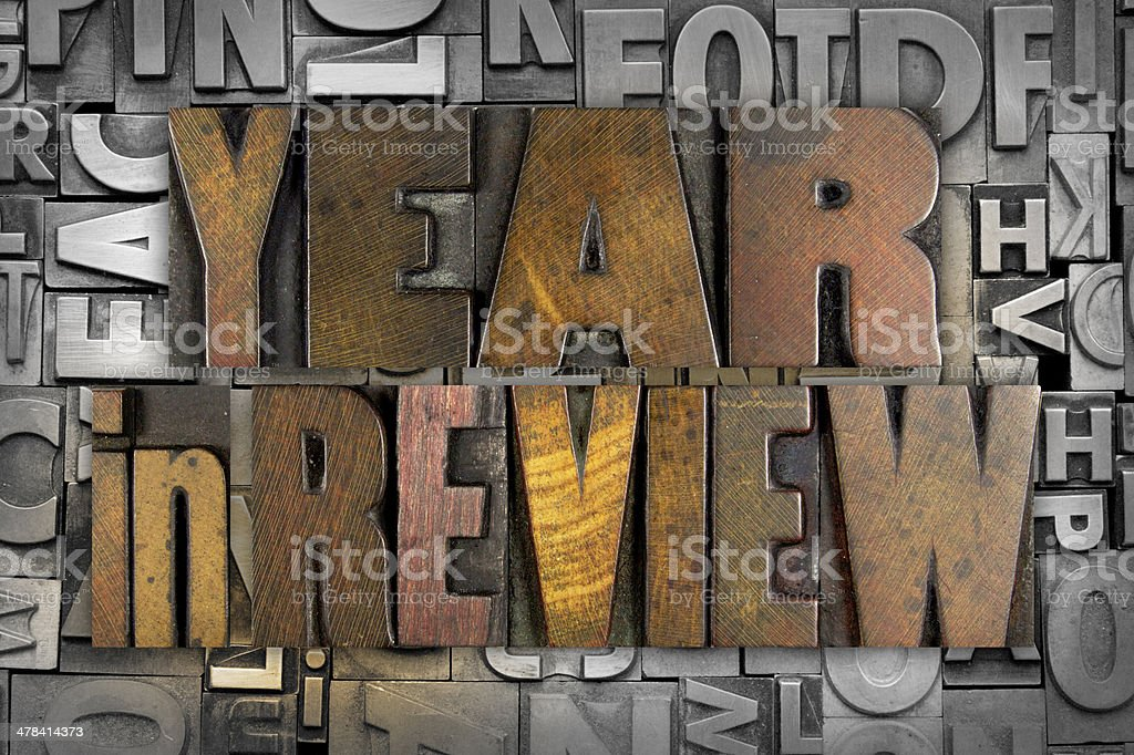 Year in Review stock photo