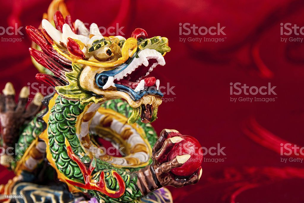 2012. Year of chinese dragon. stock photo