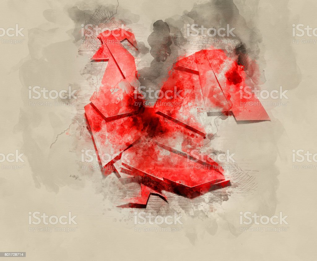 Year of fiery cock stock photo