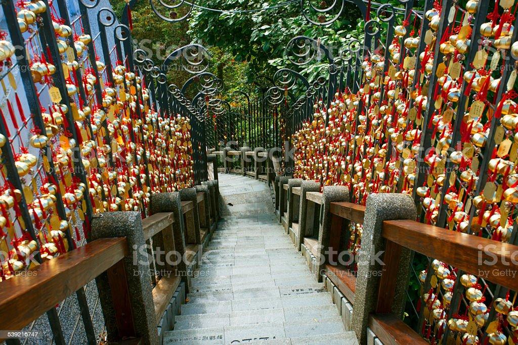 Year of Steps, Wen Wu Temple, Sun Moon Lake, Taiwan stock photo