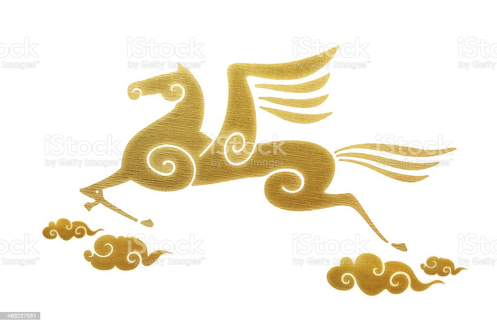 Year of the Horse(Clipping path) royalty-free stock photo