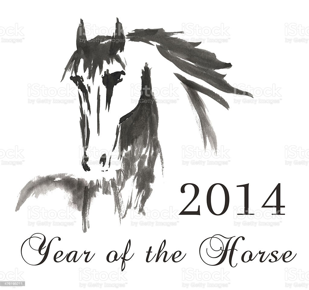 Year of the horse stock photo