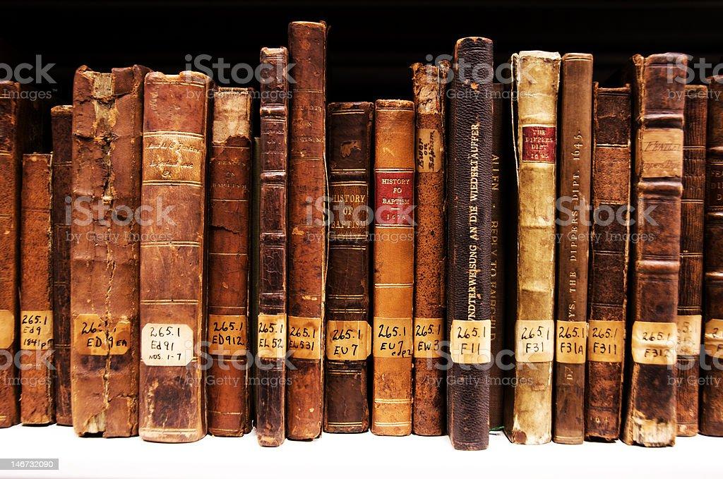 150+ Year old Antique Religious Books stock photo