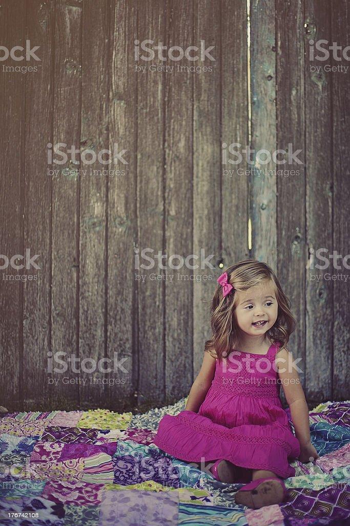 2 Year Old Girl stock photo