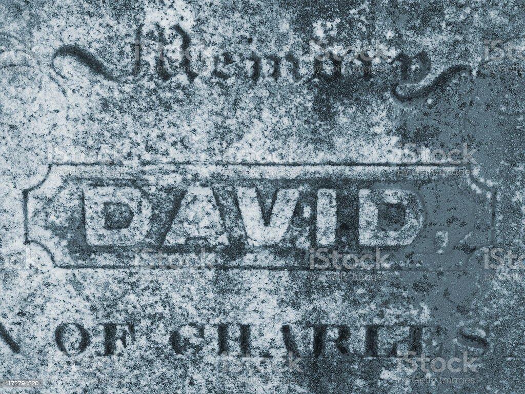 150 Year old Gravestone royalty-free stock photo