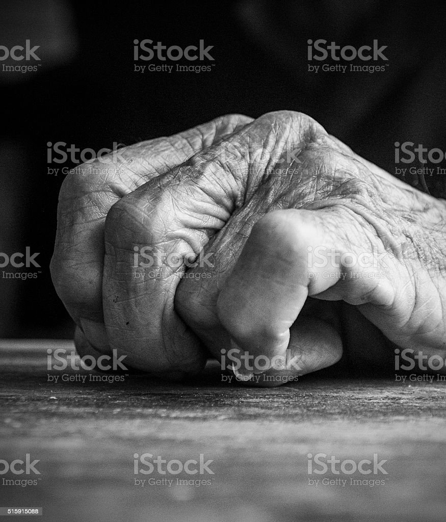 90 Year Old Man Hand stock photo