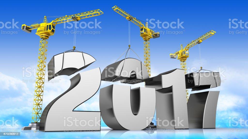 2017 year stock photo