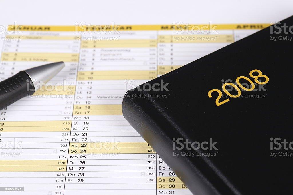 Year Planner 2008 stock photo