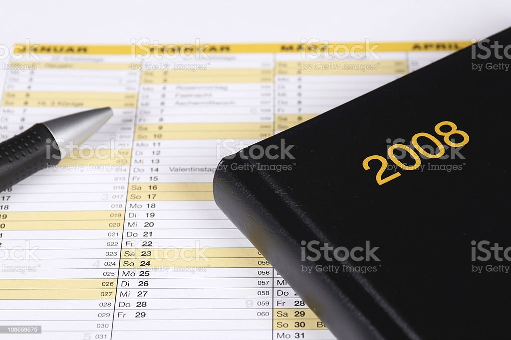Year Planner 2008 stock photo