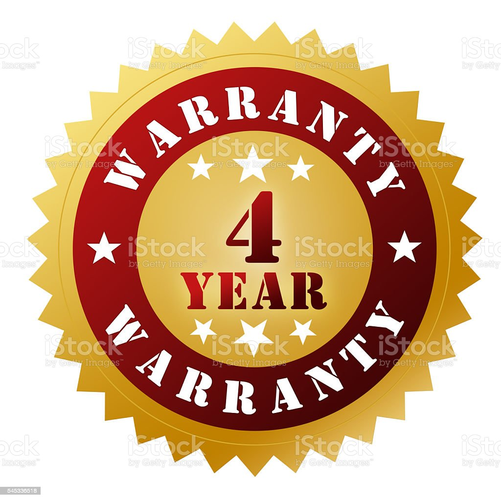 4 year warranty stock photo