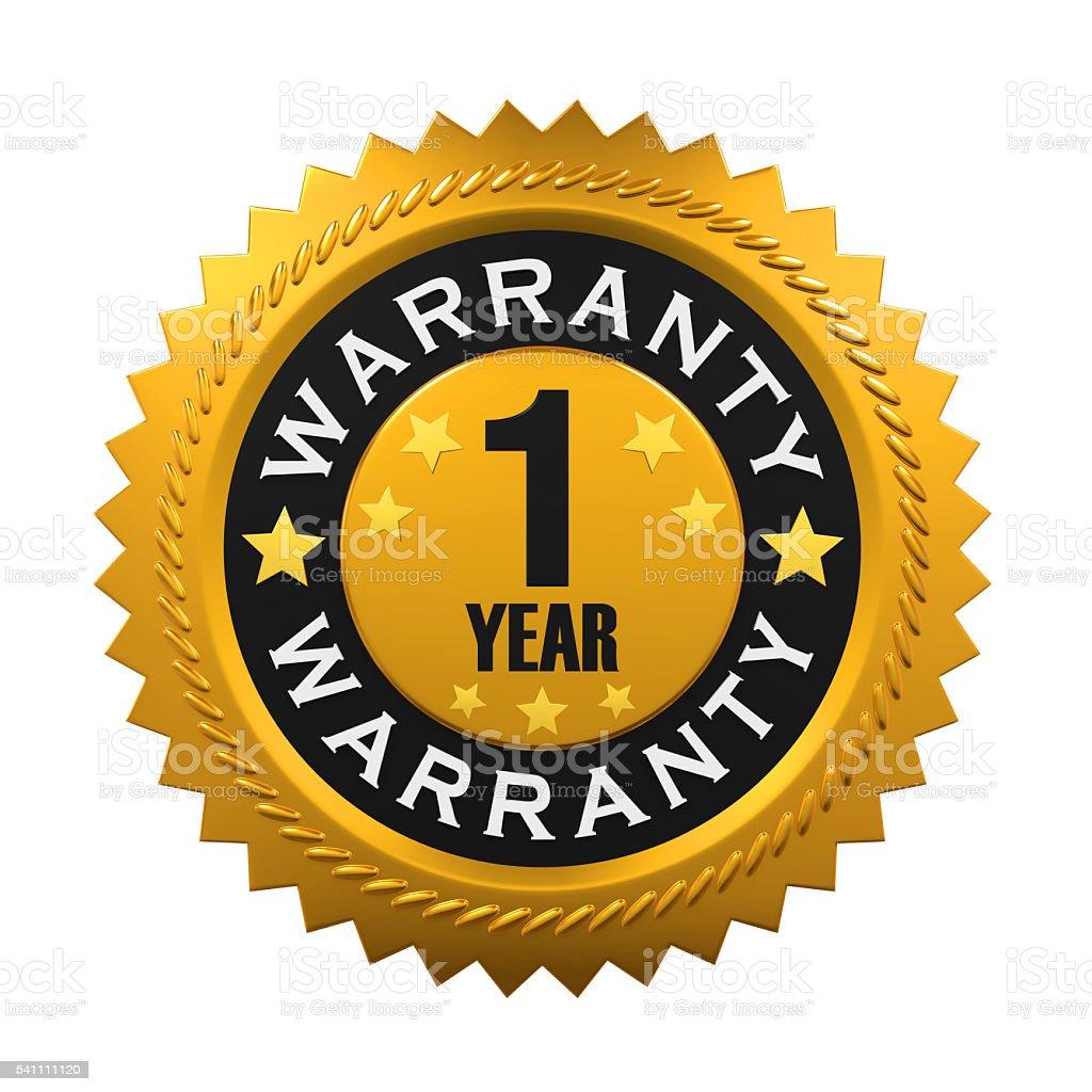 1 Year Warranty Sign stock photo