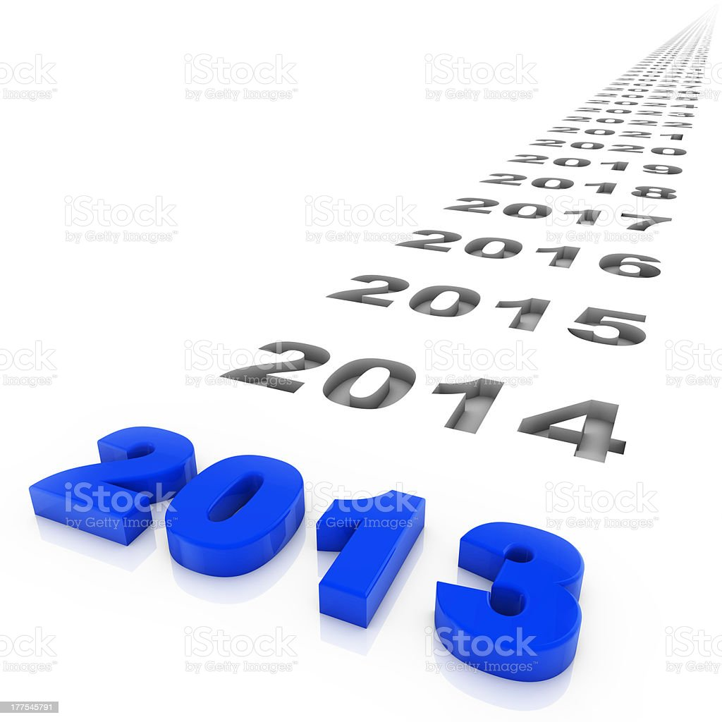 Year2013 stock photo