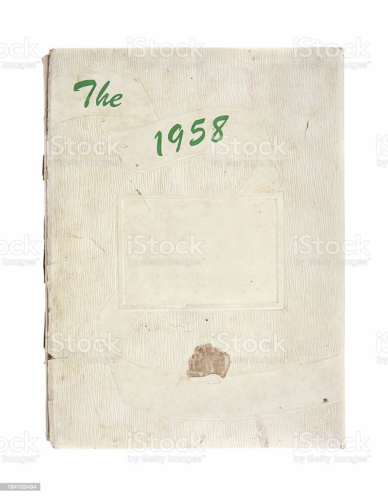Yearbook - 1958 royalty-free stock photo