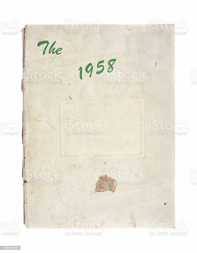 Yearbook - 1958 stock photo