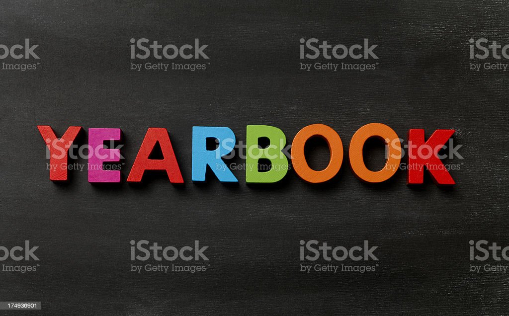 Yearbook royalty-free stock photo