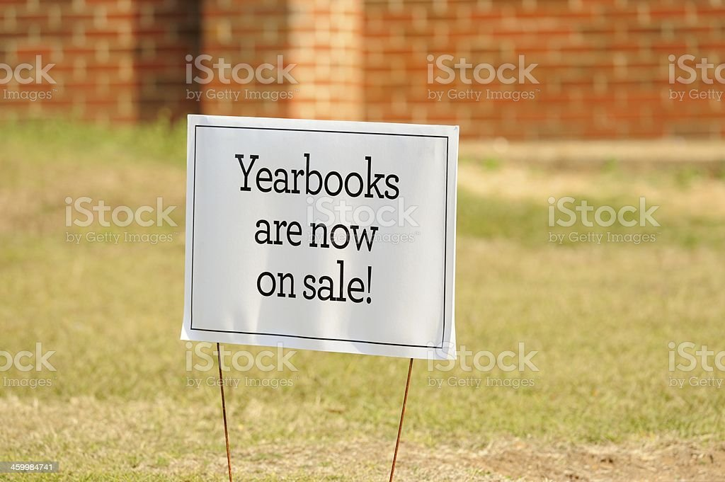 Yearbooks are now on sale royalty-free stock photo