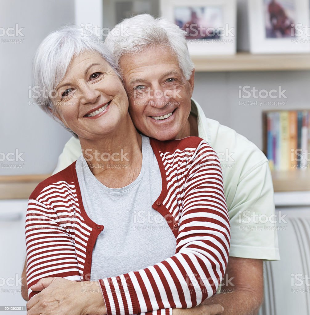 50 years down the line, we're still in love! royalty-free stock photo
