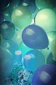 NEW Year's Eve Party with Balloons and champagne