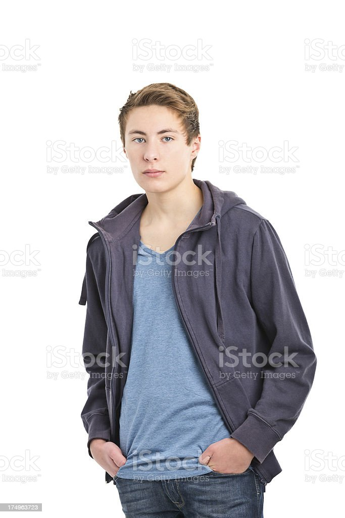 16 years old boy royalty-free stock photo
