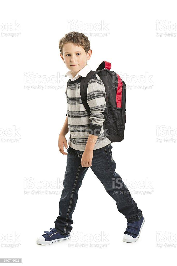 7 years old boy stock photo