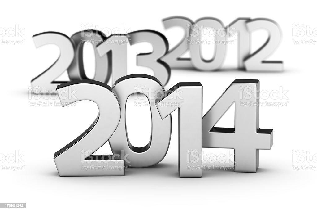 2012, 2013, 2014 years royalty-free stock photo