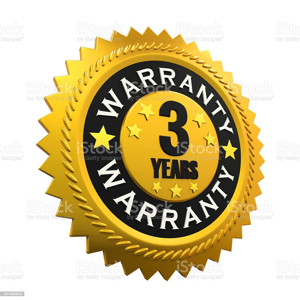 3 Years Warranty Sign stock photo