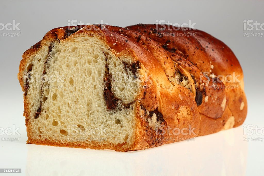 Yeast cake with poppy seed stock photo