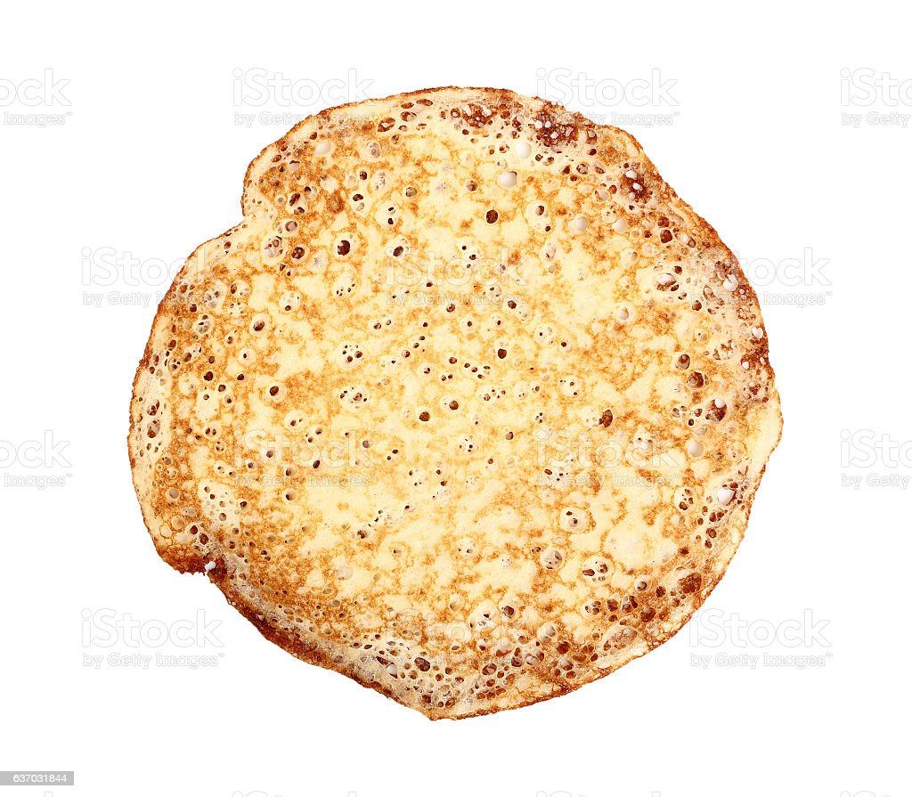 Yeast crepe. Directly Above. stock photo