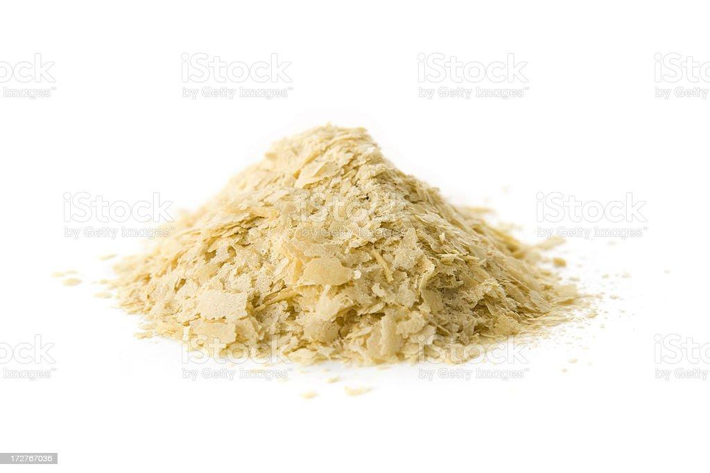 Yeast flakes stock photo