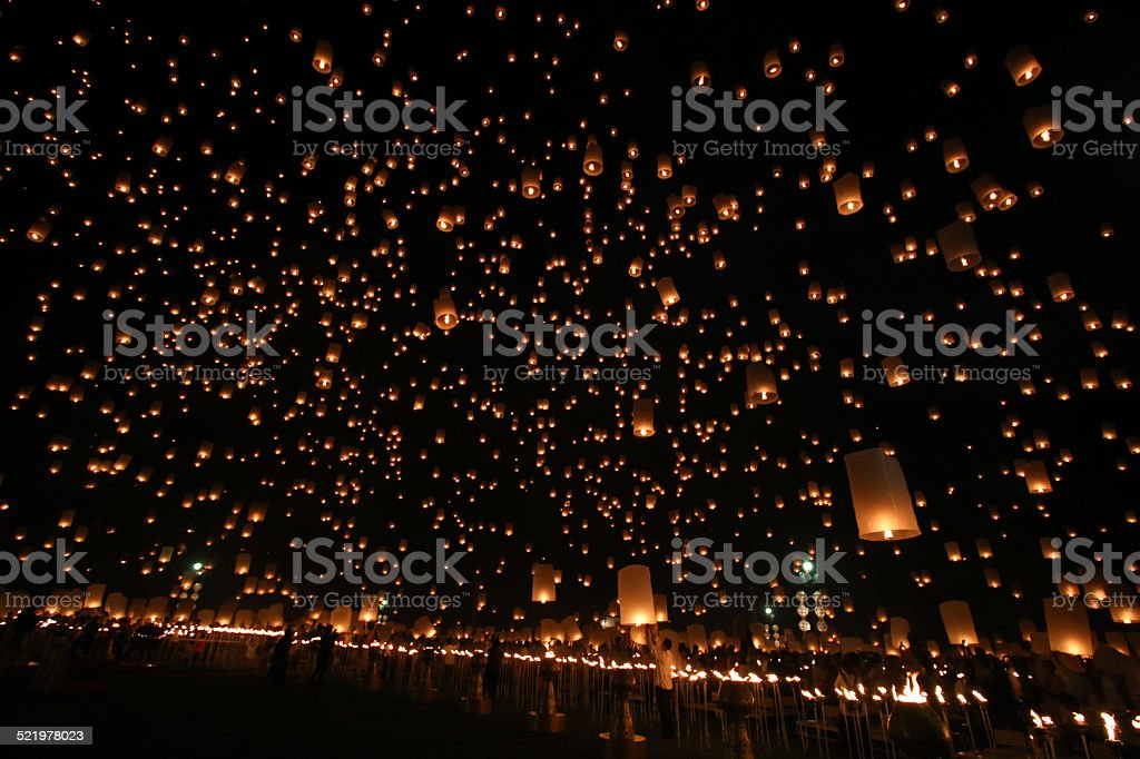 Yeepeng, Chiang Mai, Thailand Festival.2014 stock photo