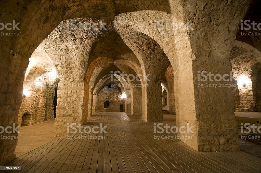 Yehi'am Fortress National Park royalty-free stock photo