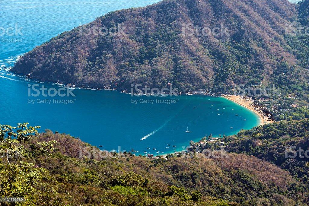 Yelapa Bay, south of Puerto Vallarta, Mexico stock photo