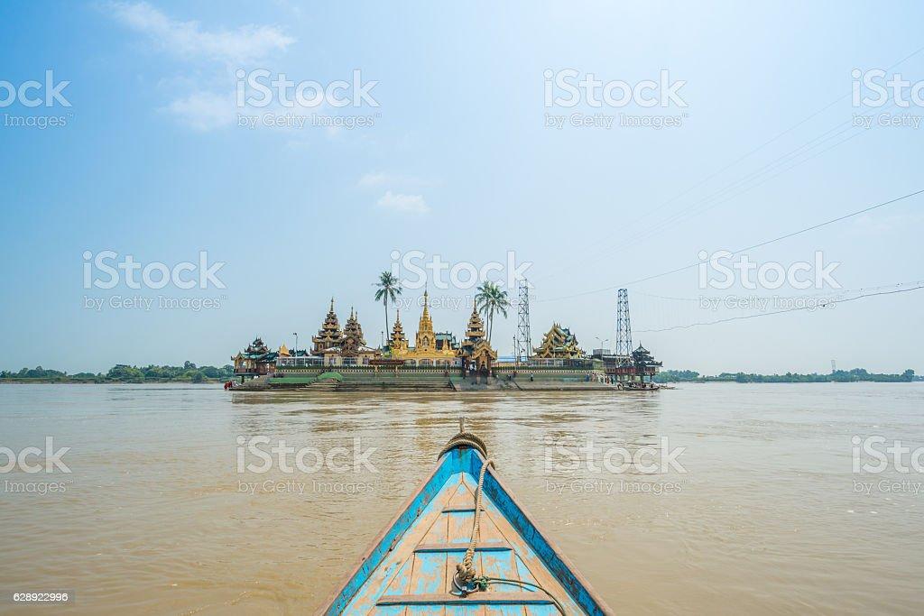 Yele Paya pagoda in the floating island, Myanmar. stock photo