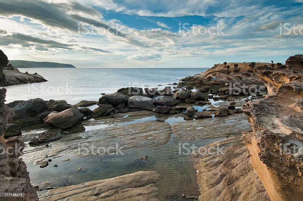 Yeliou Geopark seascape royalty-free stock photo