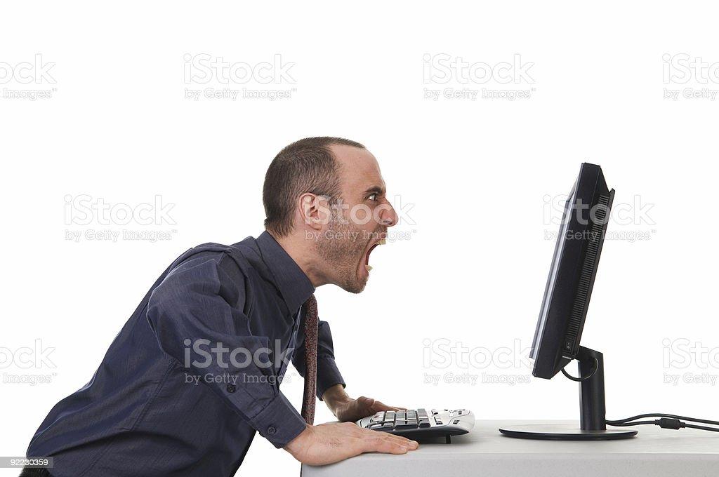 Yelling Man stock photo