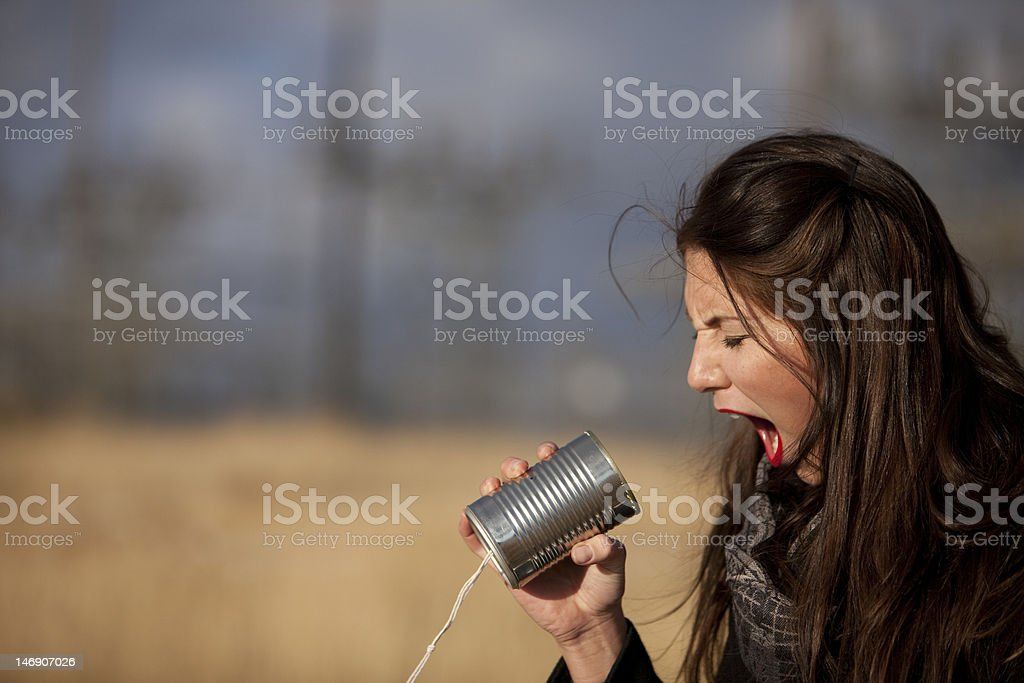 Yelling stock photo