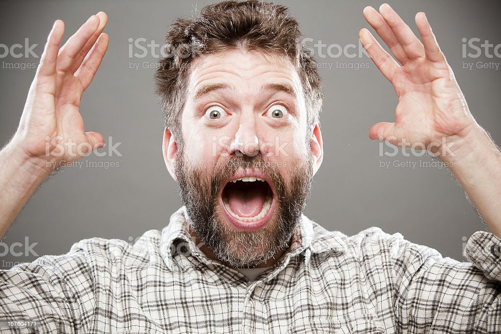 Yelling stock photo