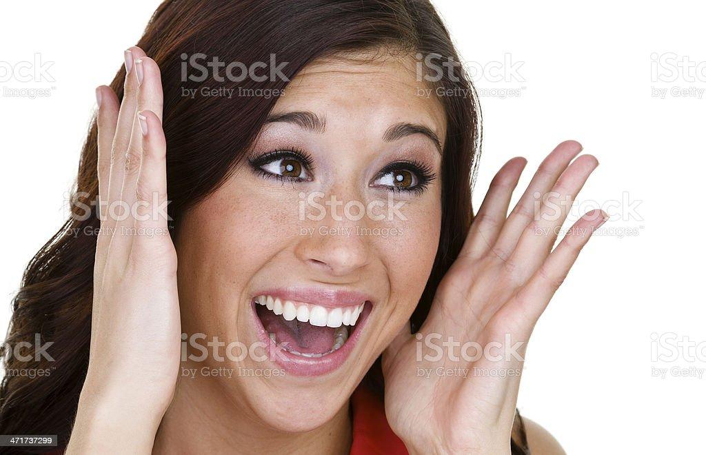 Yelling woman royalty-free stock photo