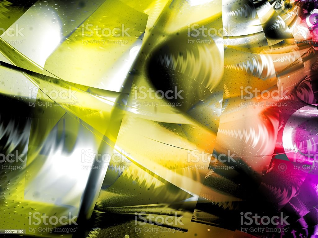 Yellow Abstract Art Design stock photo