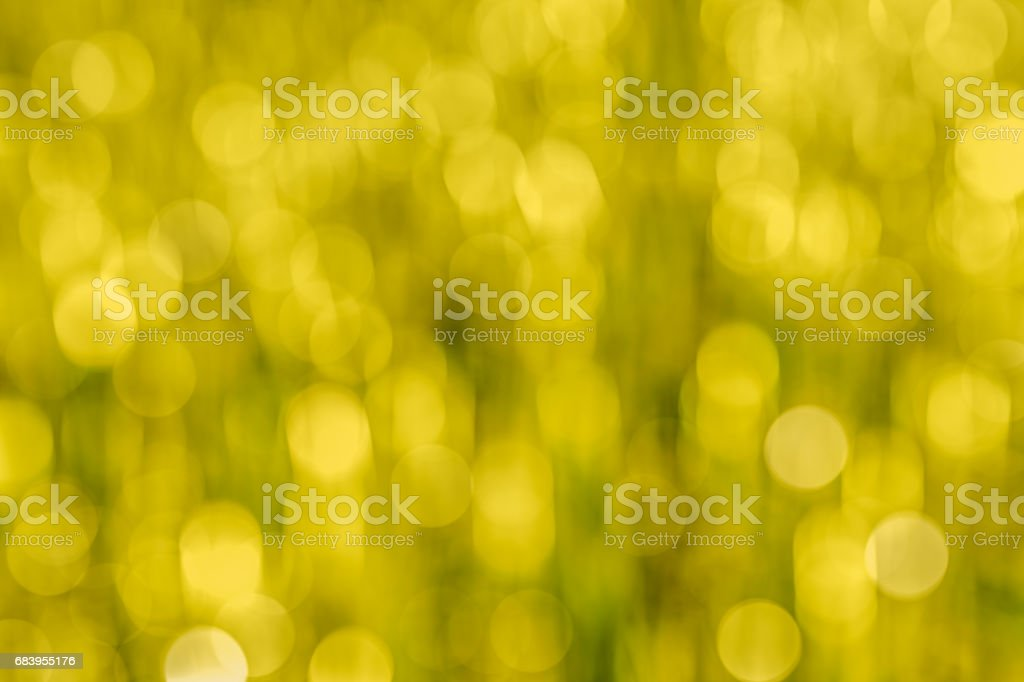 Yellow abstract bokeh as background stock photo